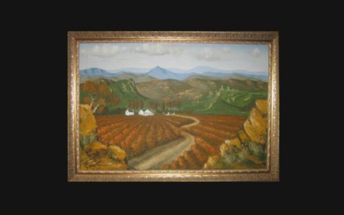 Oil Painting  -  Vineyards