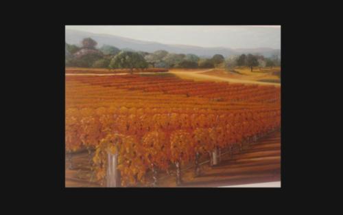 Oil Painting  -  Vineyards 2