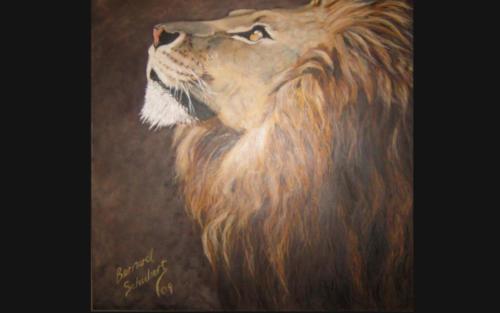 Oil Painting  -  Lion of Judah