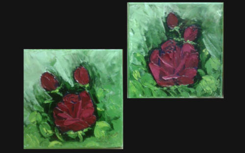 Oil Painting  -  Roses