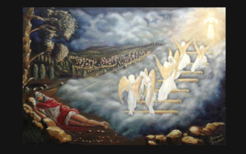 Oil Painting  -  Jacob's Ladder