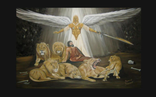 Oil Painting  -  Daniel in the Lion's Den