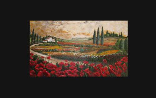 Oil Painting  -  Tuscany