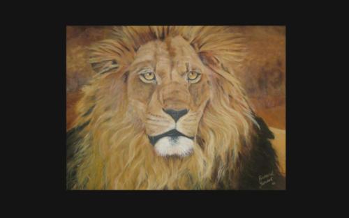 Oil Painting  -  Lion